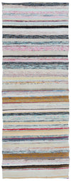 Chaput Over Dyed Kilim Rug 2'6'' x 6'7'' ft 76 x 201 cm