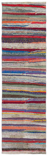 Chaput Over Dyed Kilim Rug 2'5'' x 8'4'' ft 74 x 255 cm