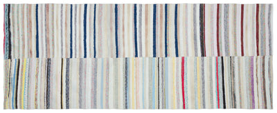 Chaput Over Dyed Kilim Rug 4'6'' x 11'6'' ft 136 x 350 cm