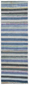Chaput Over Dyed Kilim Rug 2'7'' x 7'10'' ft 78 x 240 cm