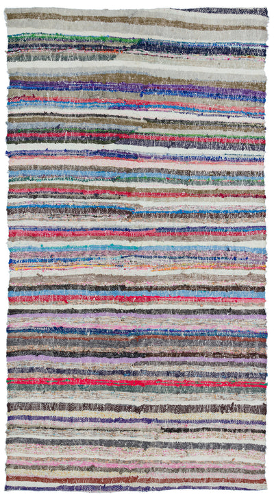 Chaput Over Dyed Kilim Rug 5'3'' x 9'4'' ft 160 x 285 cm