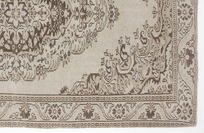 Beige Over Dyed Vintage Rug 5'11'' x 8'9'' ft 181 x 266 cm