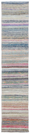 Chaput Over Dyed Kilim Rug 2'2'' x 9'12'' ft 65 x 304 cm