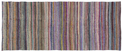 Chaput Over Dyed Kilim Rug 4'5'' x 10'11'' ft 135 x 332 cm