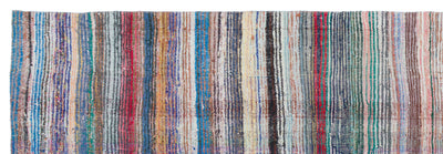 Chaput Over Dyed Kilim Rug 4'1'' x 12'0'' ft 124 x 367 cm