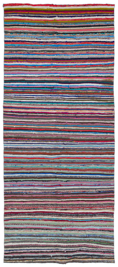 Chaput Over Dyed Kilim Rug 4'8'' x 11'2'' ft 142 x 341 cm