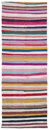Chaput Over Dyed Kilim Rug 4'3'' x 11'5'' ft 130 x 348 cm