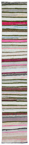 Chaput Over Dyed Kilim Rug 1'12'' x 10'6'' ft 60 x 320 cm