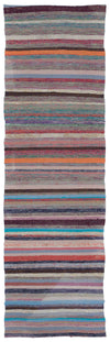 Chaput Over Dyed Kilim Rug 2'5'' x 8'1'' ft 74 x 246 cm