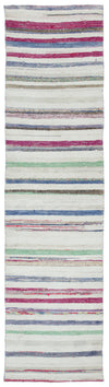 Chaput Over Dyed Kilim Rug 2'4'' x 9'1'' ft 71 x 276 cm