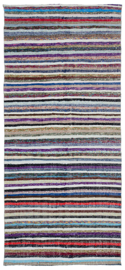 Chaput Over Dyed Kilim Rug 4'11'' x 10'9'' ft 150 x 327 cm