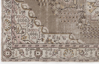 Beige Over Dyed Vintage Rug 5'11'' x 10'2'' ft 180 x 309 cm