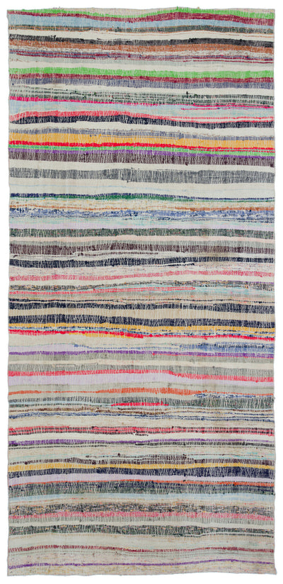 Chaput Over Dyed Kilim Rug 5'4'' x 10'10'' ft 162 x 330 cm