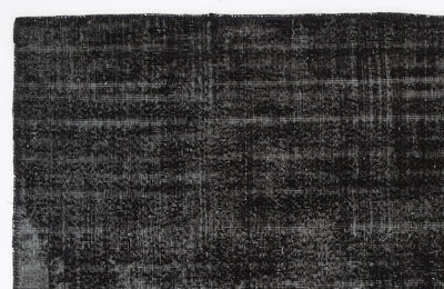 Black Over Dyed Vintage Rug 5'11'' x 9'1'' ft 180 x 278 cm