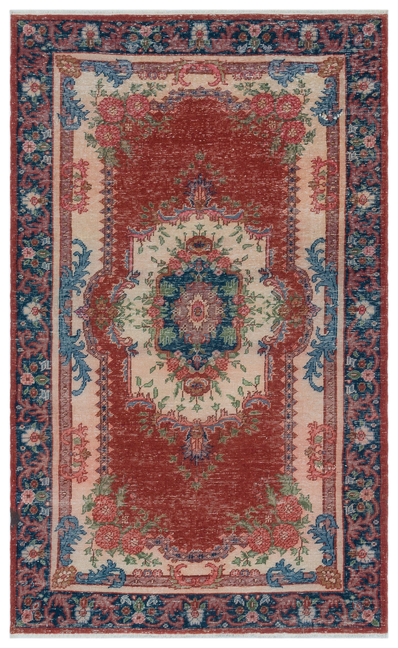 Naturel Over Dyed Anatolium Rug 3'9'' x 6'2'' ft 115 x 187 cm