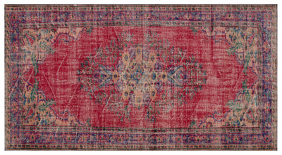 Naturel Over Dyed Vintage Rug 5'3'' x 9'9'' ft 160 x 296 cm