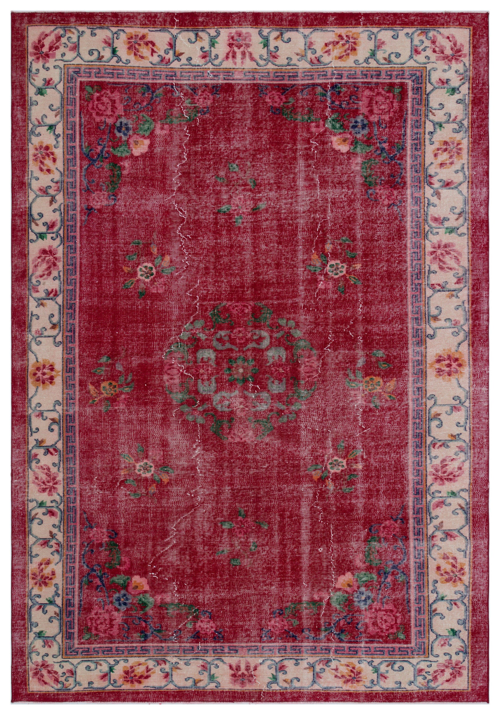 Naturel Over Dyed Vintage Rug 6'9'' x 9'8'' ft 205 x 294 cm