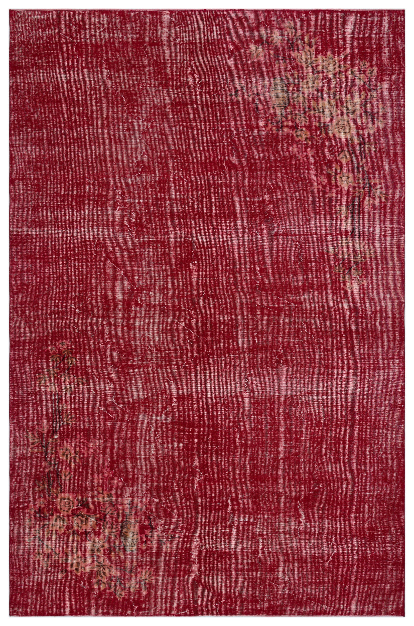 Naturel Over Dyed Vintage Rug 6'9'' x 10'5'' ft 205 x 317 cm