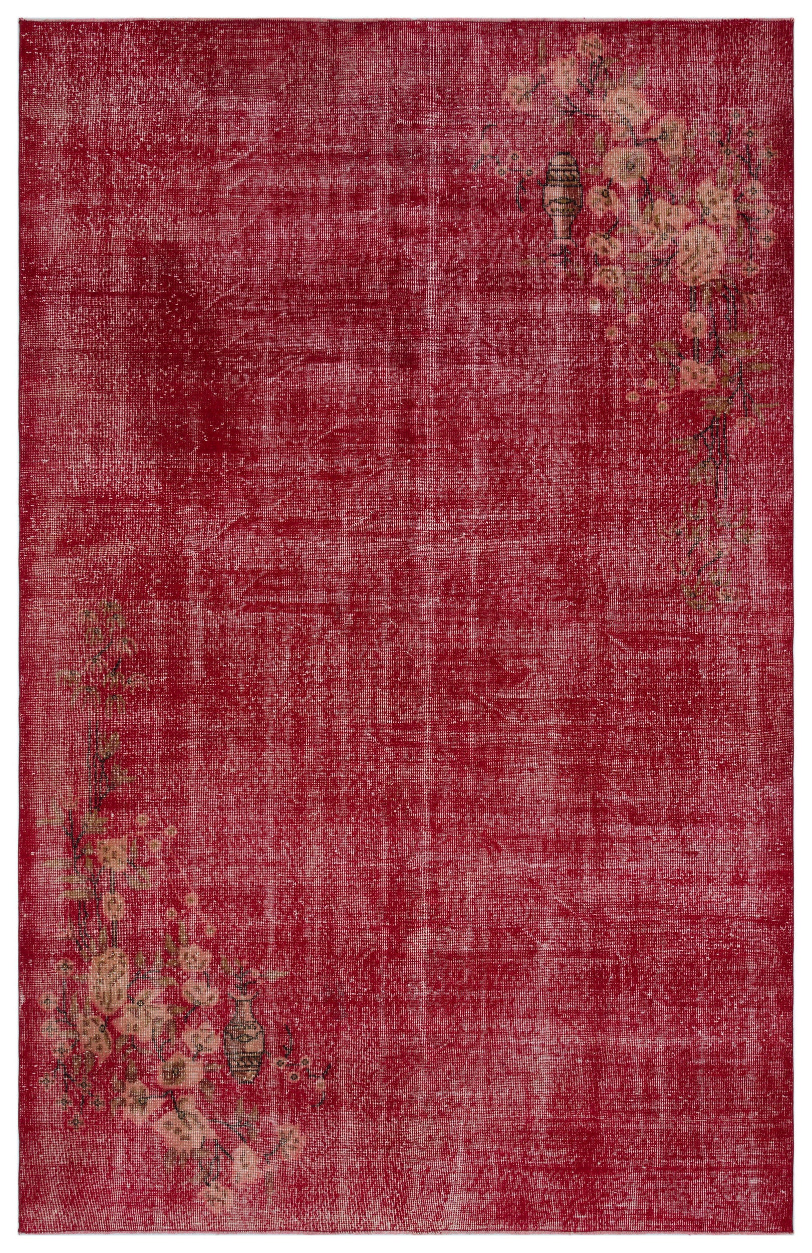 Naturel Over Dyed Vintage Rug 6'6'' x 9'11'' ft 197 x 303 cm