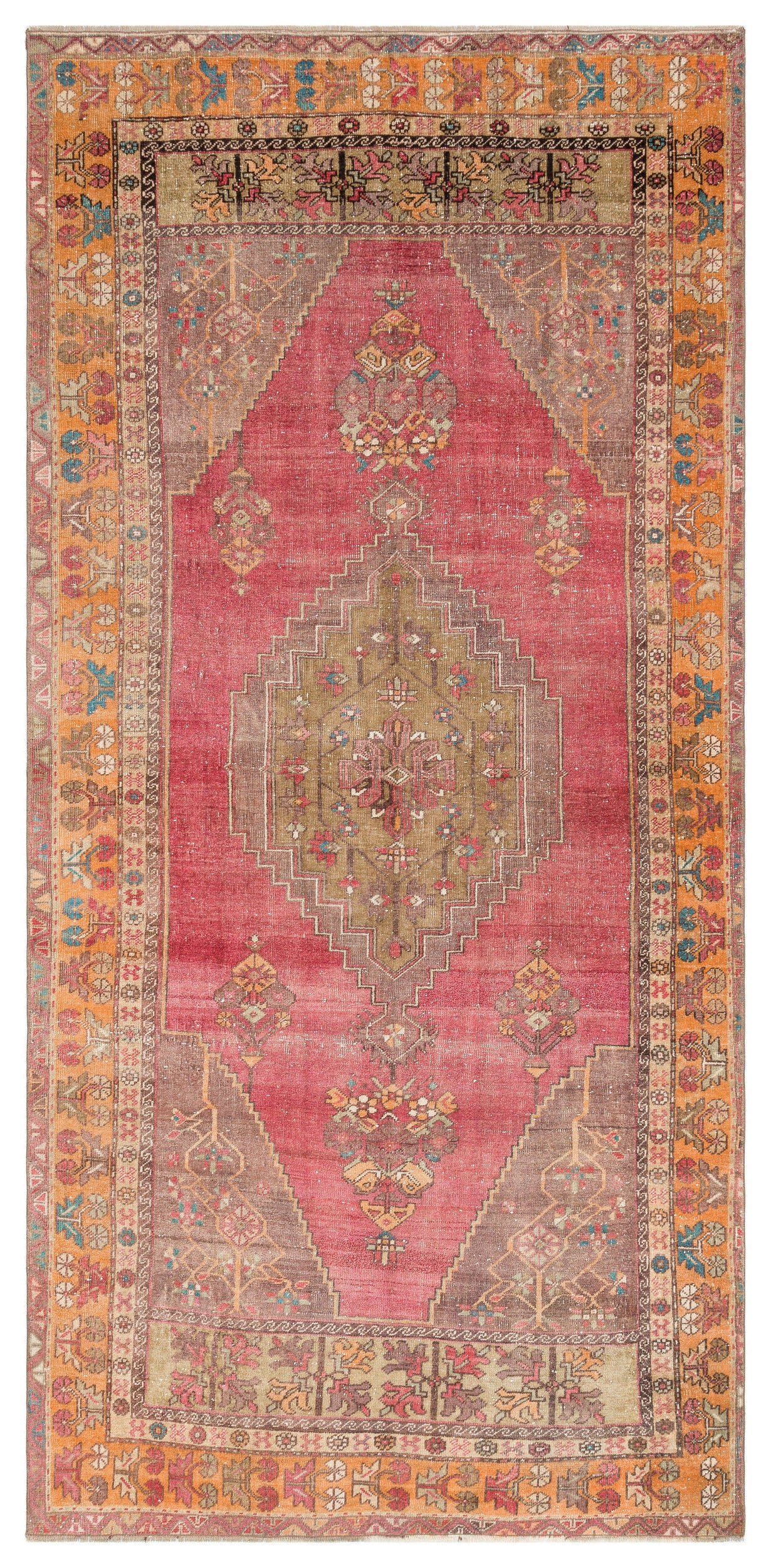 Naturel Over Dyed Anatolium Rug 4'5'' x 8'12'' ft 134 x 274 cm