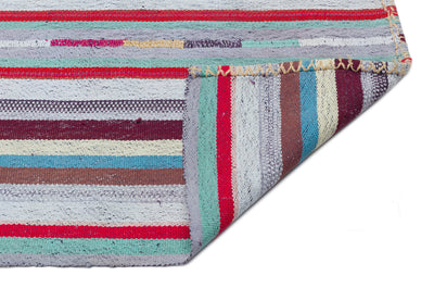 Striped Over Dyed Kilim Rug 5'10'' x 9'2'' ft 177 x 280 cm