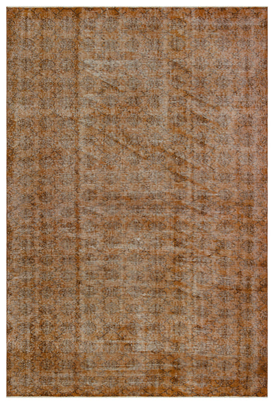Brown Over Dyed Vintage Rug 6'2'' x 9'2'' ft 189 x 280 cm