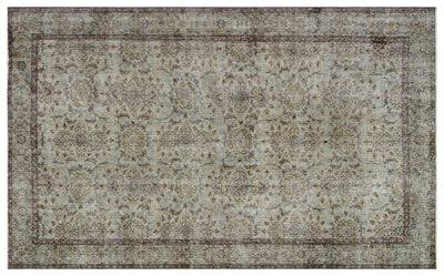 Gray Over Dyed Vintage Rug 5'9'' x 9'6'' ft 174 x 290 cm