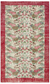 Retro Design Floral Over Dyed Vintage Rug 6'2'' x 10'3'' ft 189 x 313 cm