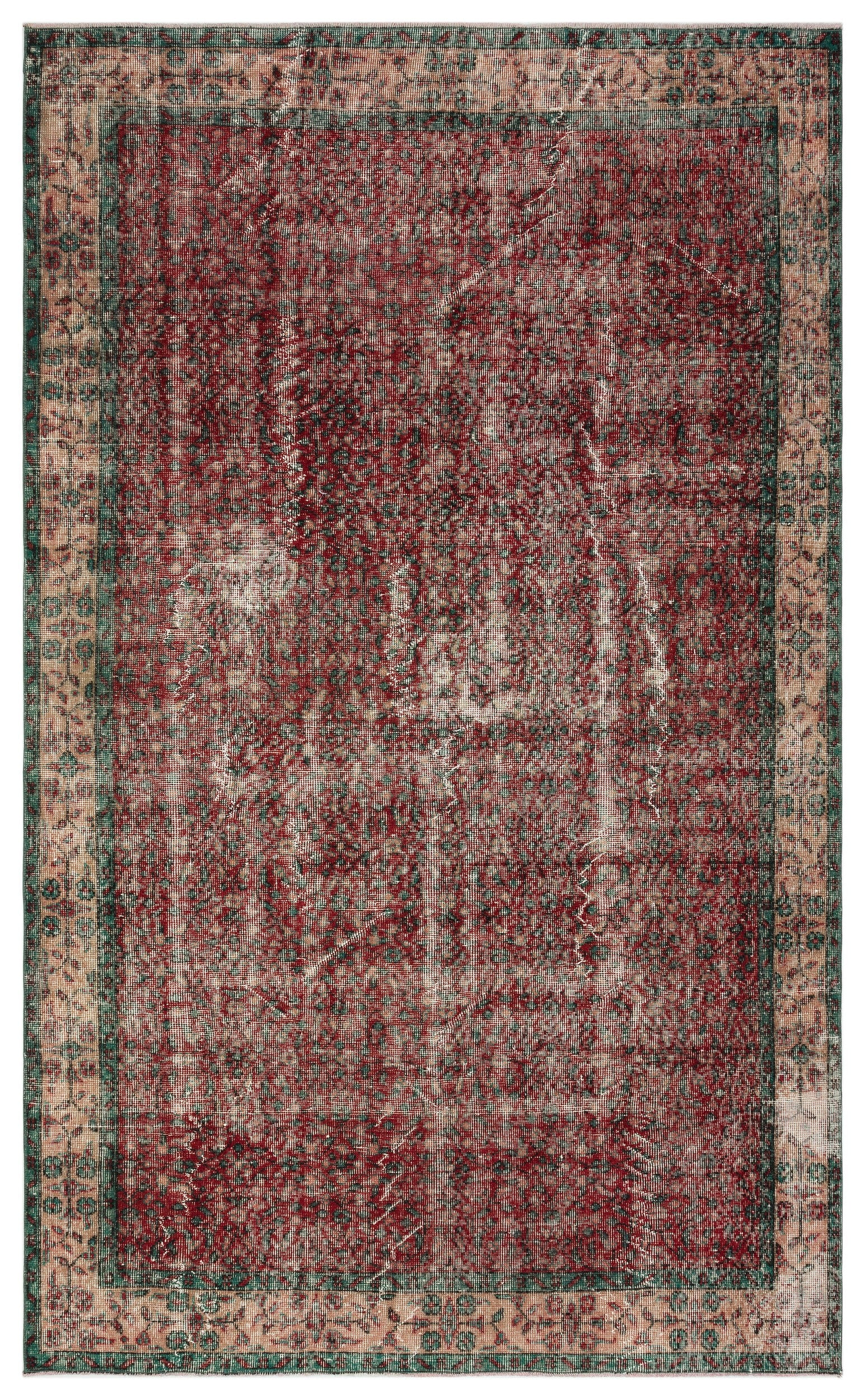 Naturel Over Dyed Vintage Rug 5'7'' x 9'2'' ft 170 x 280 cm