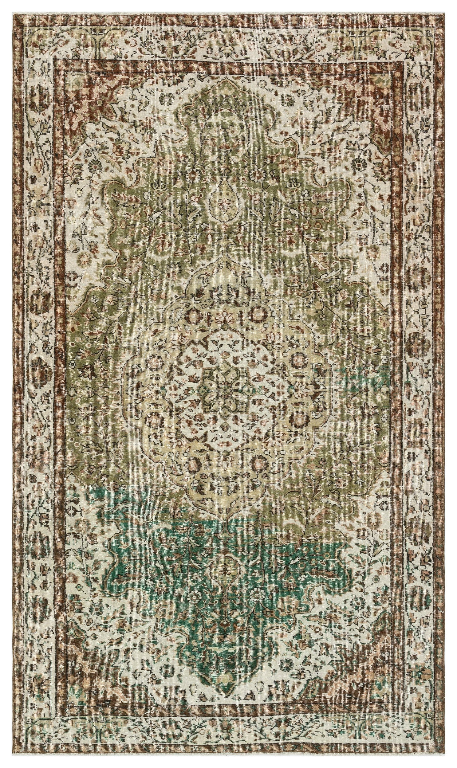 Retro Over Dyed Vintage Rug 5'5'' x 9'1'' ft 166 x 277 cm