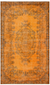 Traditional Design Orange Over Dyed Vintage Rug 6'4'' x 10'7'' ft 193 x 323 cm