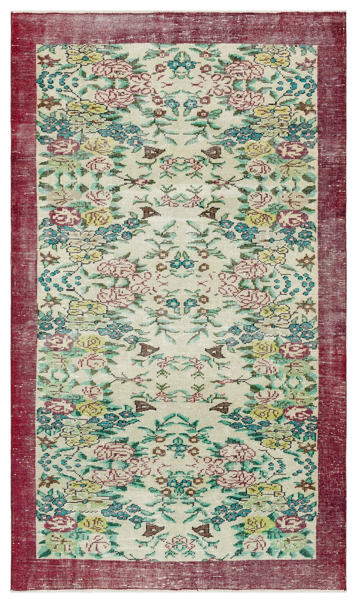 Naturel Over Dyed Vintage Rug 4'11'' x 8'3'' ft 149 x 252 cm