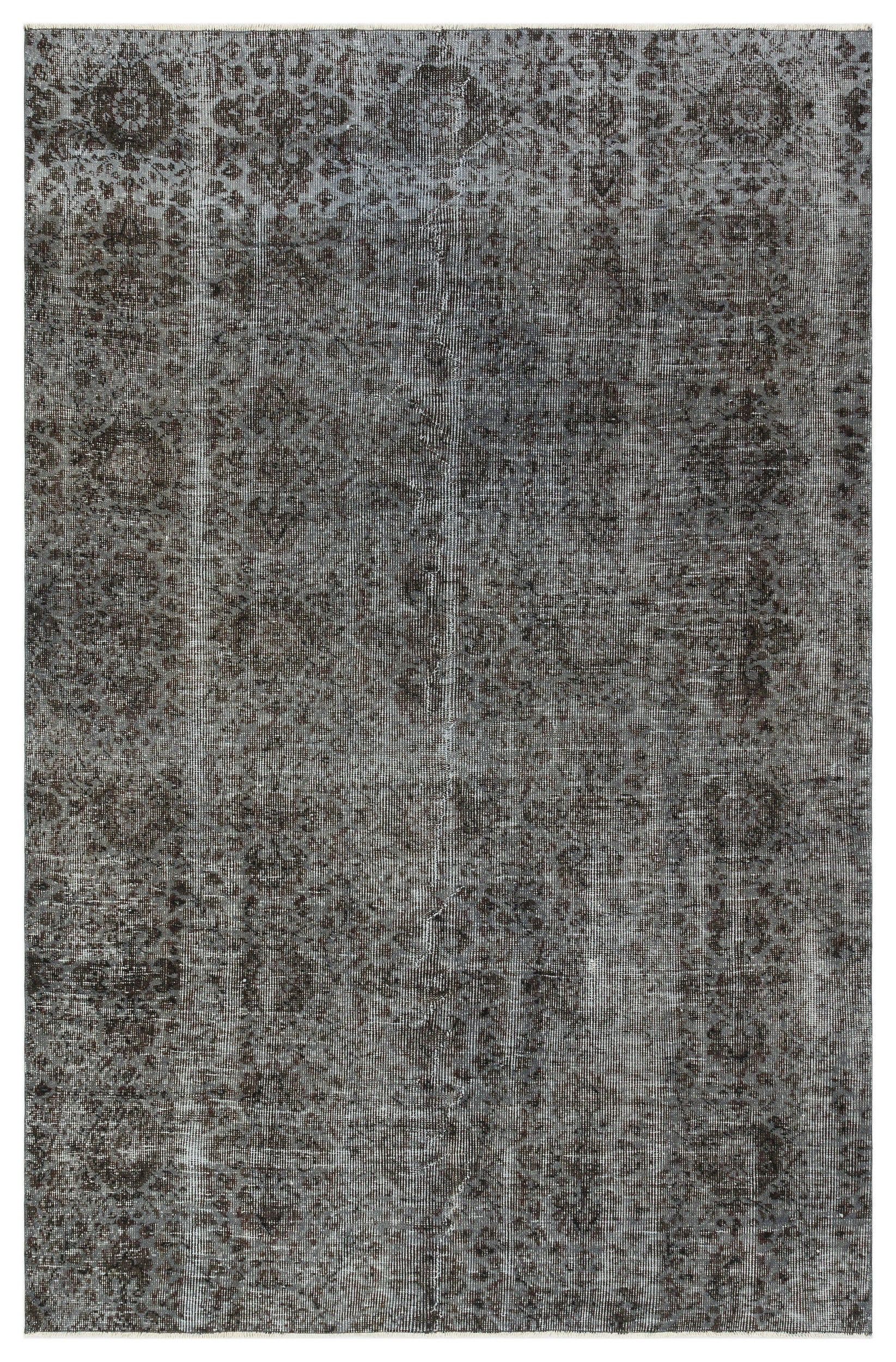 Gray Over Dyed Vintage Rug 5'3'' x 8'2'' ft 161 x 248 cm