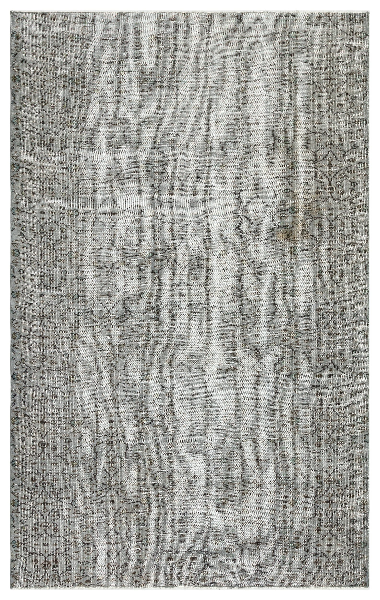 Gray Over Dyed Vintage Rug 5'0'' x 8'2'' ft 153 x 250 cm