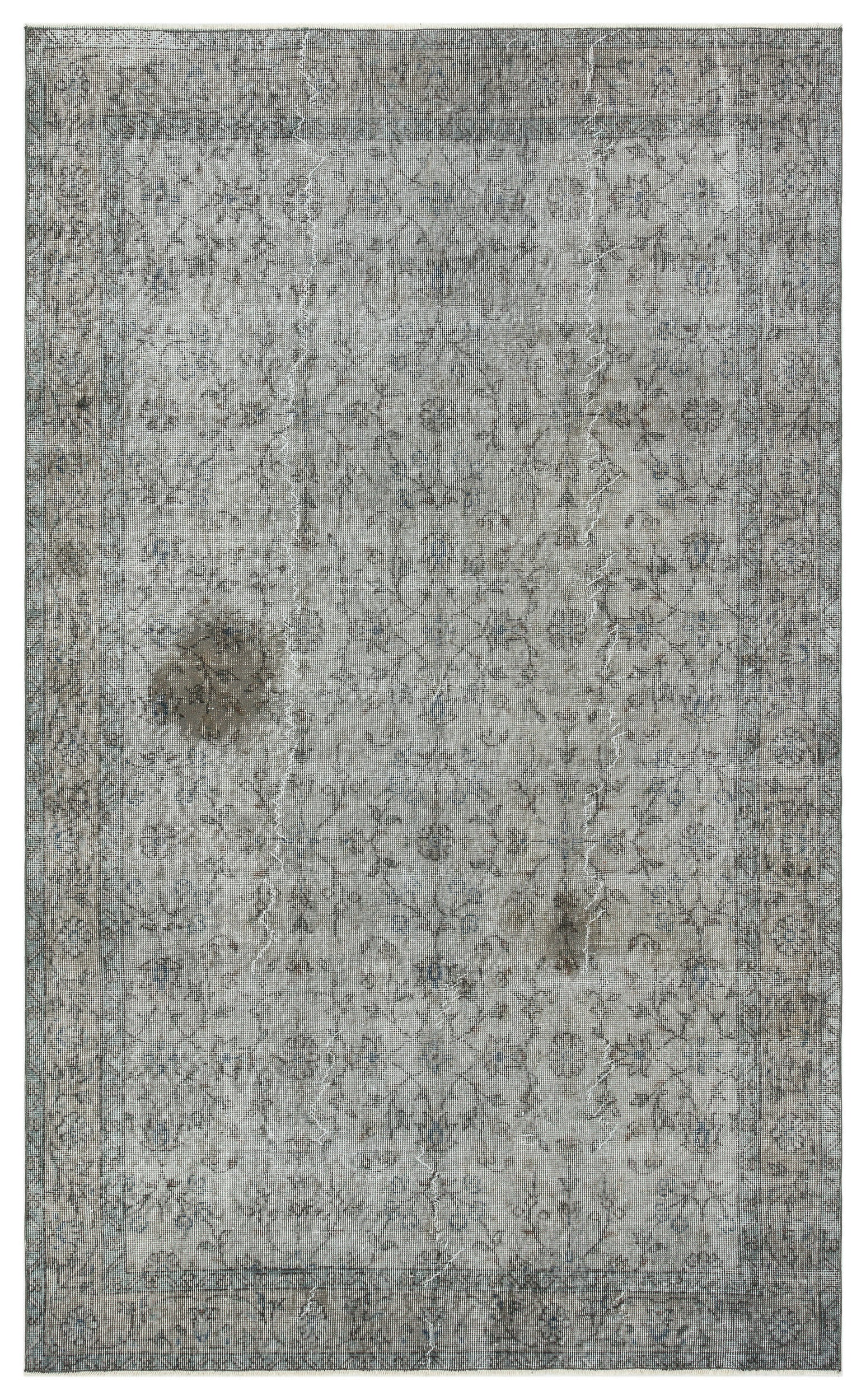Gray Over Dyed Vintage Rug 5'3'' x 8'6'' ft 159 x 260 cm