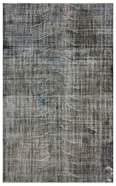 Gray Over Dyed Vintage Rug 5'11'' x 9'4'' ft 180 x 285 cm