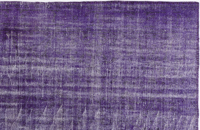 Purple Over Dyed Vintage Rug 5'11'' x 8'11'' ft 180 x 273 cm