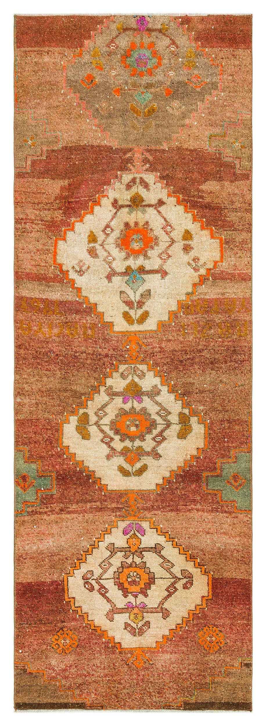 Naturel Over Dyed Anatolium Rug 2'6'' x 7'10'' ft 77 x 240 cm
