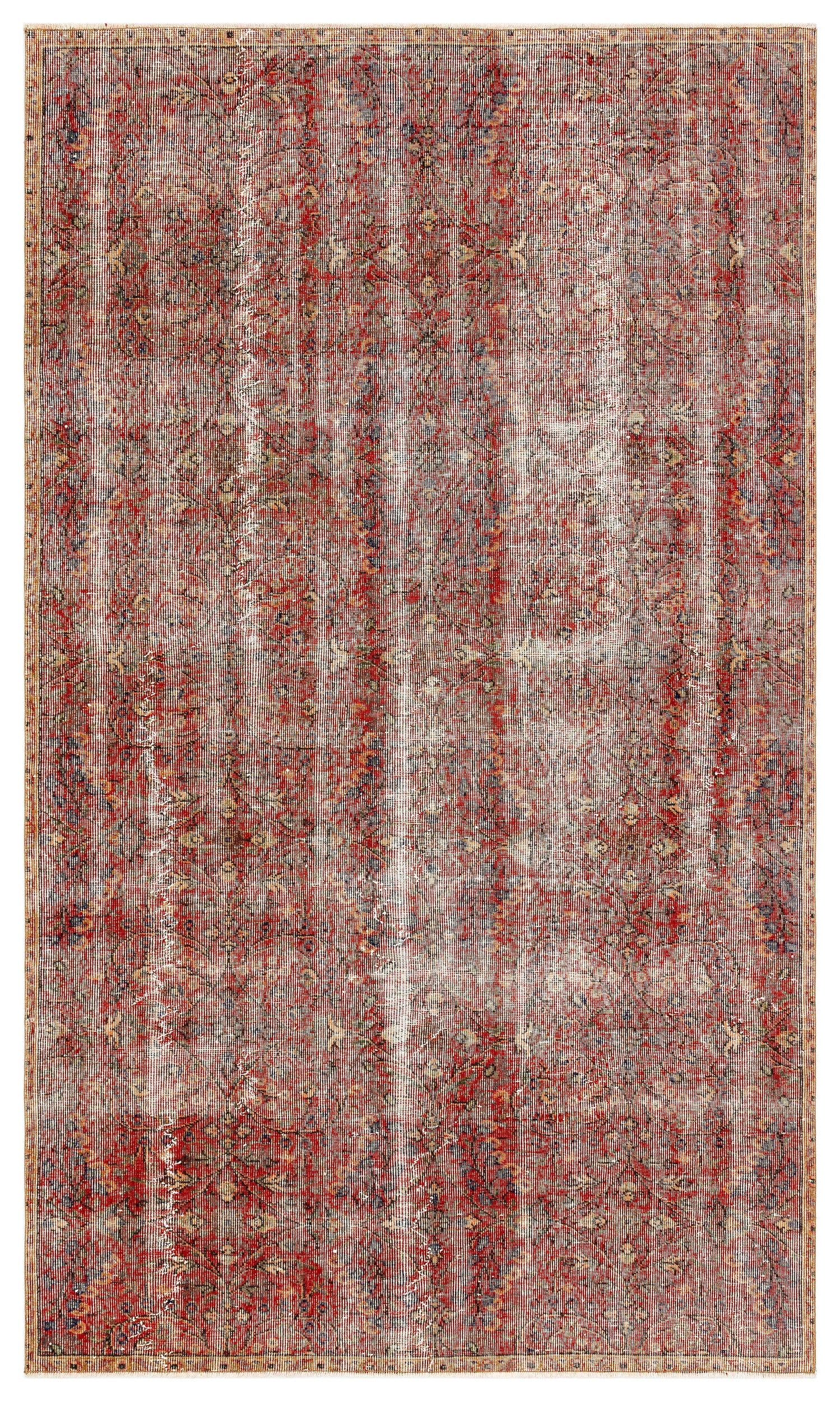 Naturel Over Dyed Vintage Rug 5'1'' x 8'8'' ft 155 x 264 cm
