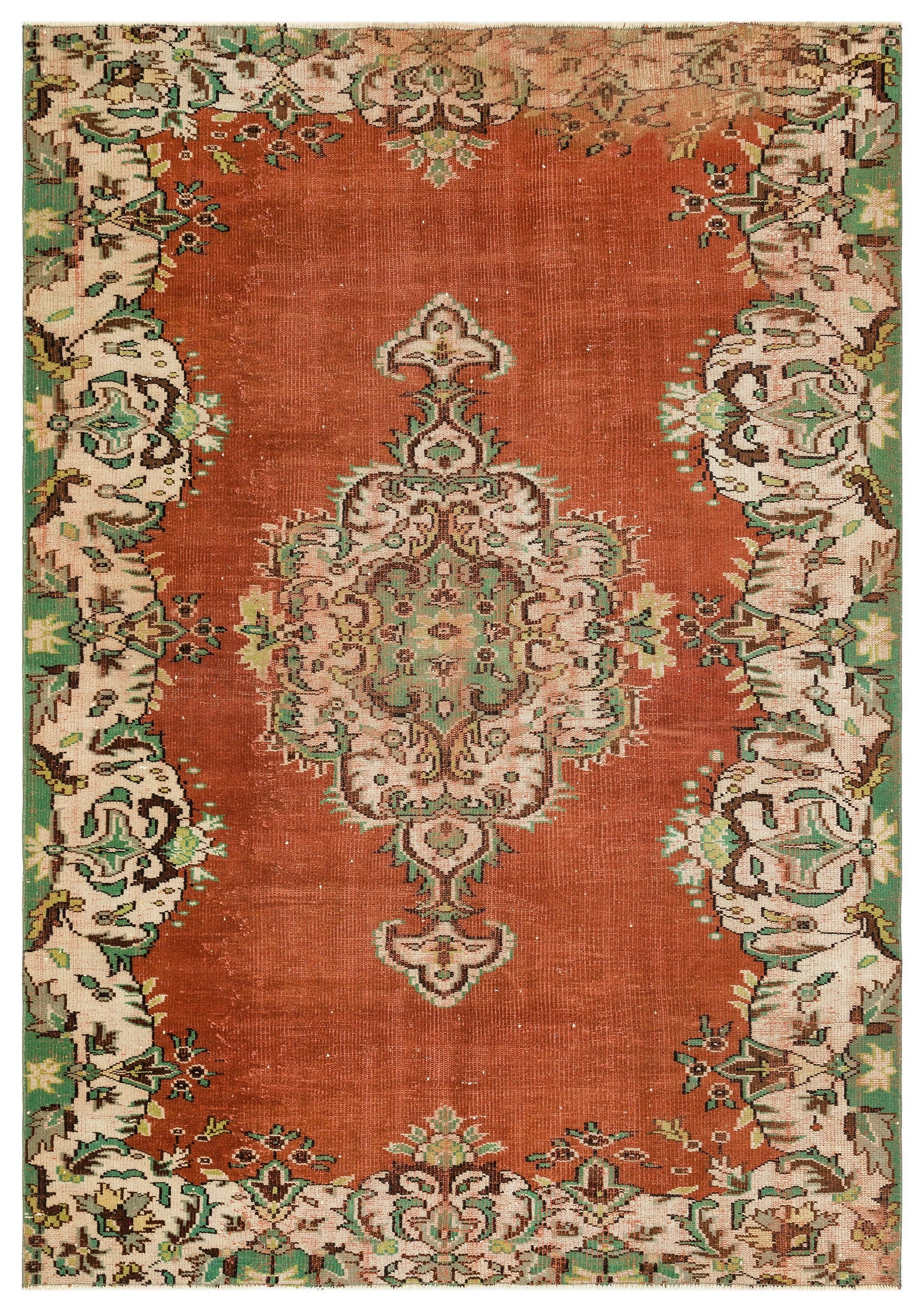 Naturel Over Dyed Vintage Rug 5'11'' x 8'7'' ft 181 x 262 cm