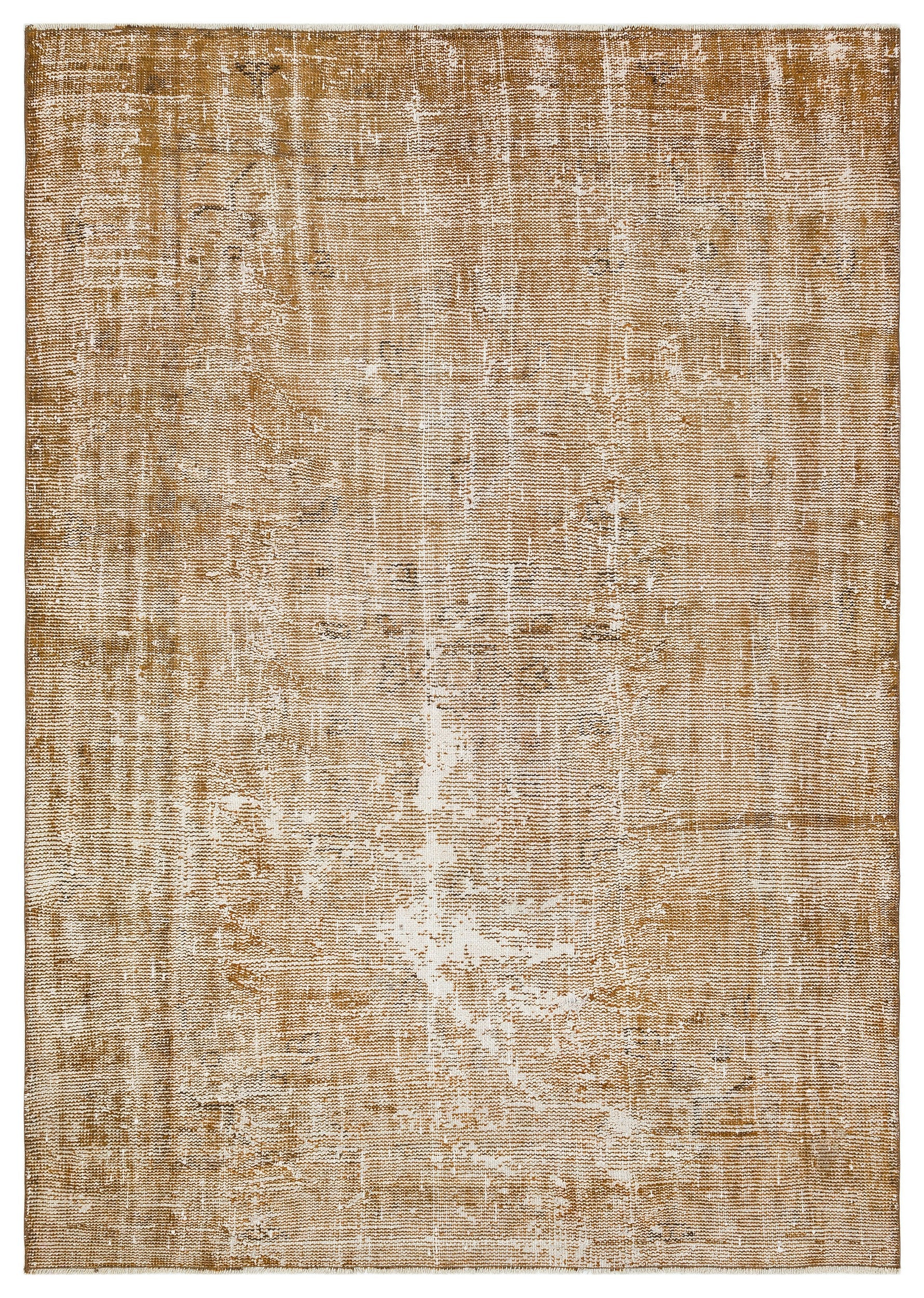 Brown Over Dyed Vintage Rug 5'6'' x 7'10'' ft 168 x 238 cm