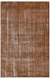 Brown Over Dyed Vintage Rug 6'7'' x 10'1'' ft 201 x 308 cm