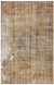 Traditional Design Brown Over Dyed Vintage Rug 5'1'' x 7'8'' ft 154 x 233 cm