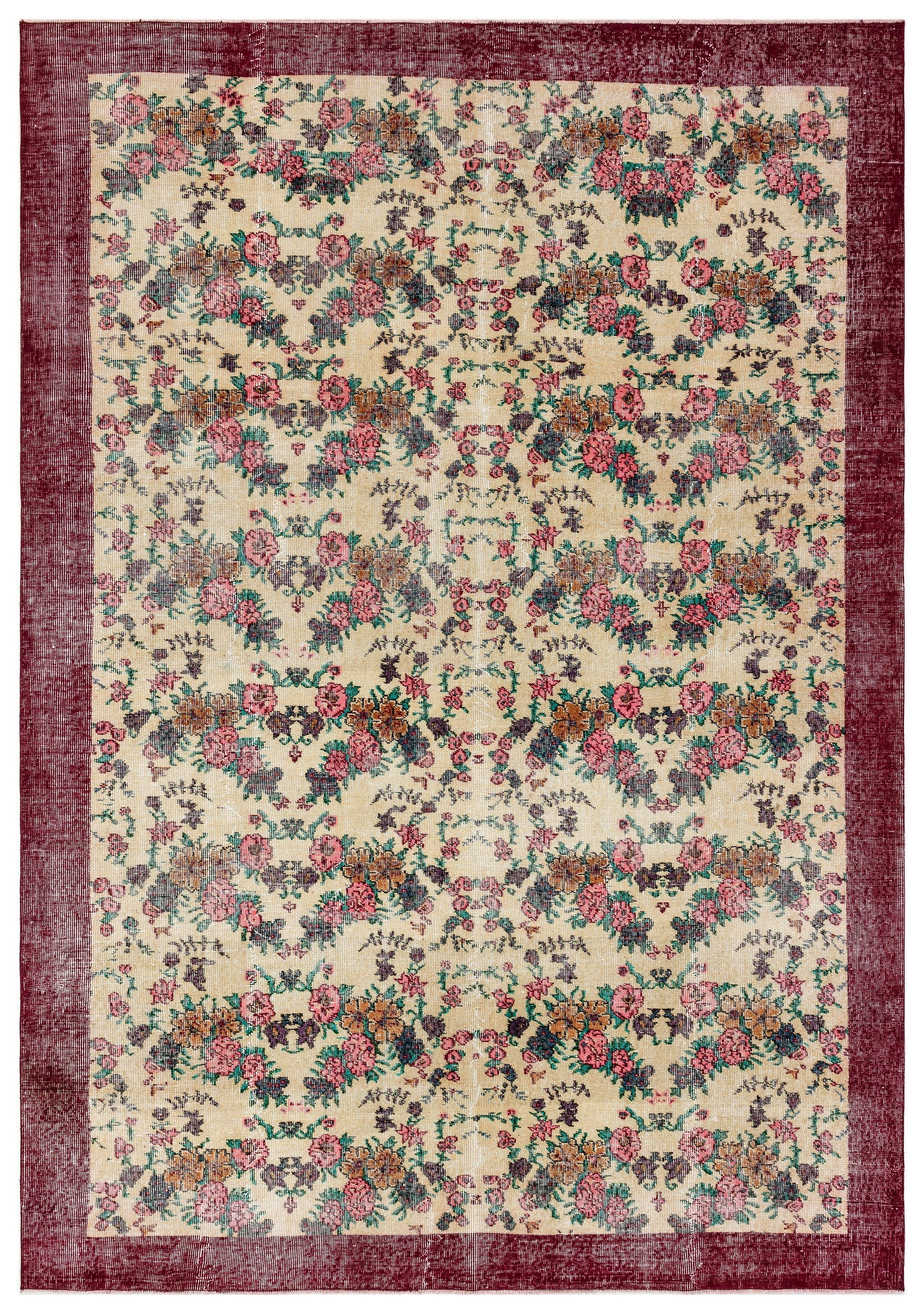 Naturel Over Dyed Vintage Rug 6'11'' x 10'0'' ft 210 x 305 cm