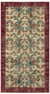 Retro Design Floral Over Dyed Vintage Rug 4'4'' x 8'1'' ft 133 x 247 cm