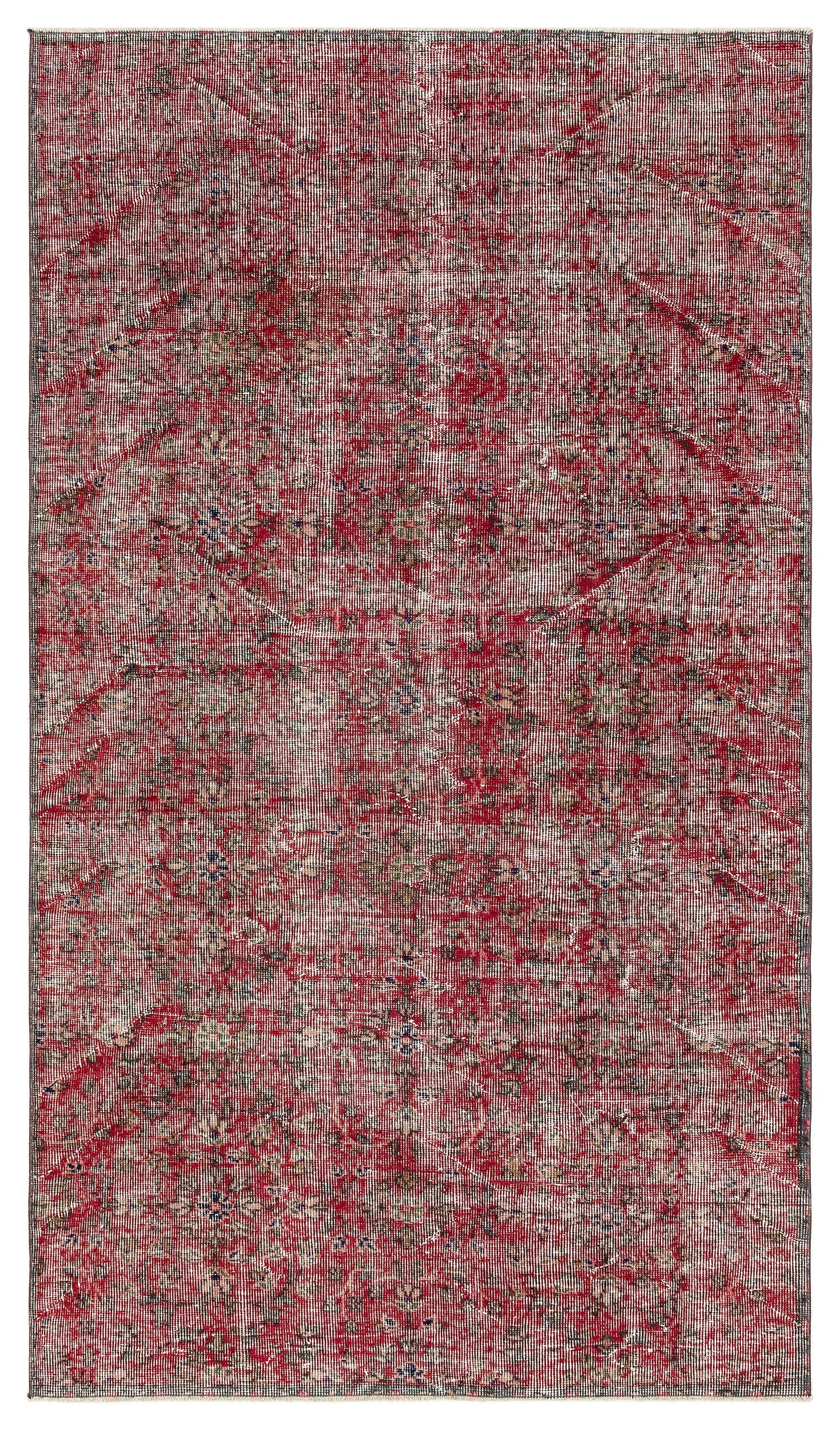 Naturel Over Dyed Vintage Rug 4'4'' x 7'5'' ft 131 x 226 cm