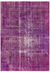 Orchid Over Dyed Vintage Rug 7'1'' x 10'1'' ft 215 x 307 cm
