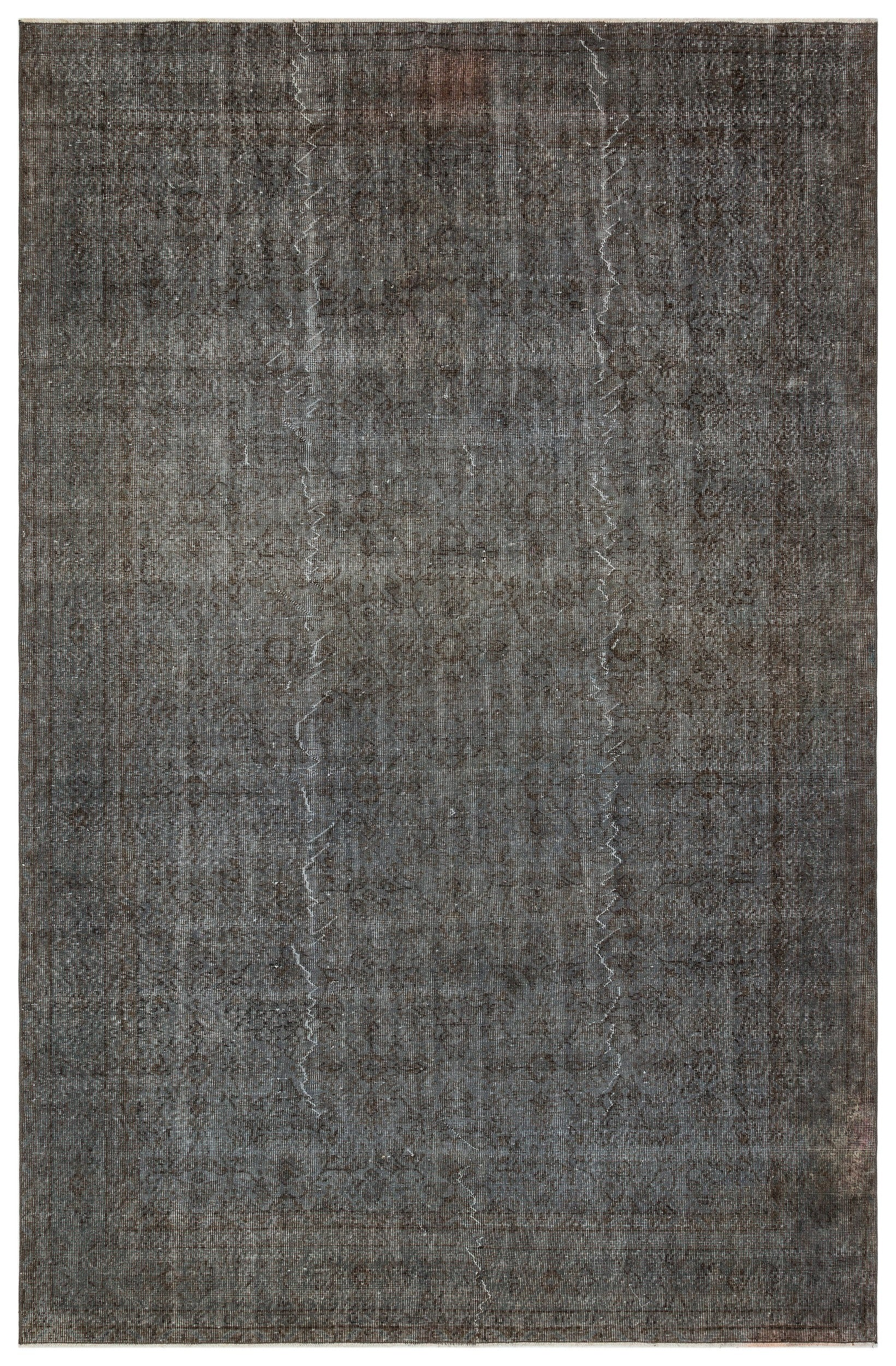 Gray Over Dyed Vintage Rug 7'2'' x 10'10'' ft 219 x 330 cm