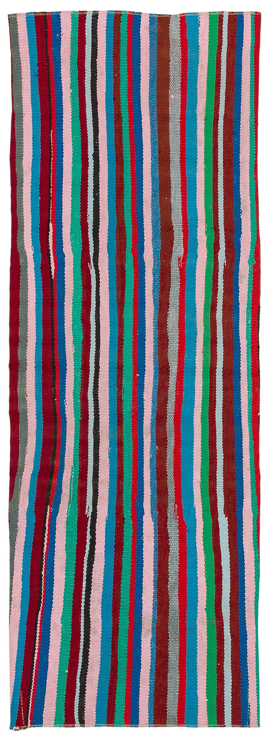 Chaput Over Dyed Kilim Rug 1'10'' x 5'1'' ft 55 x 154 cm