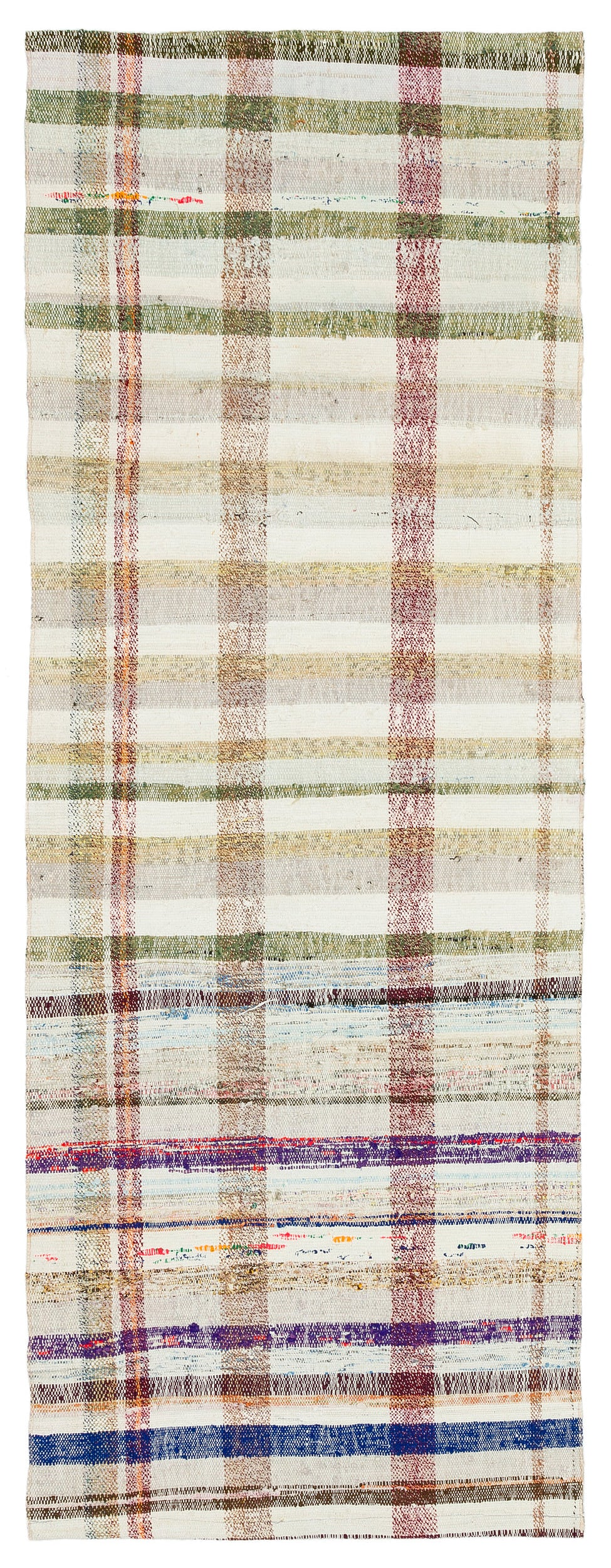 Chaput Over Dyed Kilim Rug 2'6'' x 6'9'' ft 76 x 207 cm